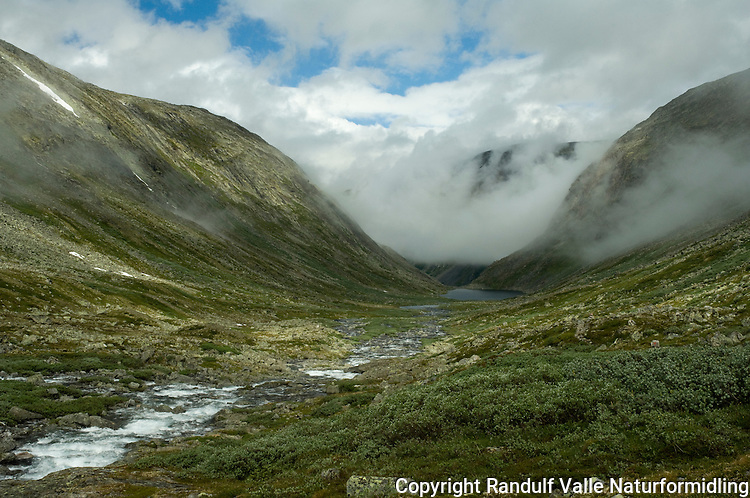 Dis over Storgrøvudalsbotn ---- Mist in mountains