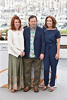 CANNES, FRANCE - MAY 14: Siobhan Fallon Hogan, Lars Von Trier, Sofie Grabol at the photocall for the 'The House That Jack Built' during the 71st annual Cannes Film Festival at Palais des Festivals on May 14, 2018 in Cannes, France.<br /> CAP/PL<br /> &copy;Phil Loftus/Capital Pictures