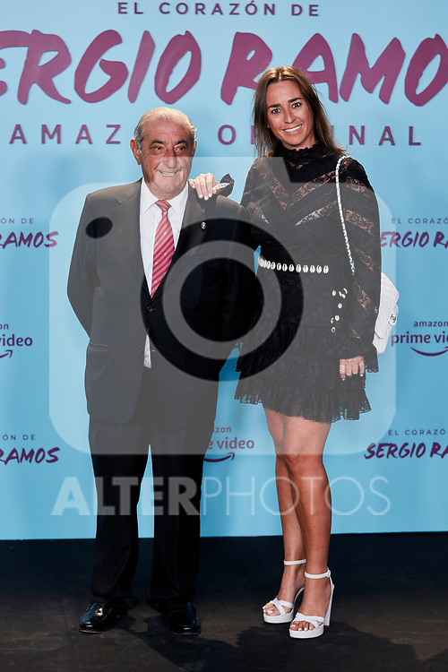 "Juan Jose Hidalgo and Cristina Hidalgo attends to ""El Corazon De Sergio Ramos"" premiere at Reina Sofia Museum in Madrid, Spain. September 10, 2019. (ALTERPHOTOS/A. Perez Meca)"