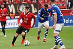 11.05.2019, BayArena, Leverkusen, GER, 1. FBL, Bayer 04 Leverkusen vs. FC Schalke 04 ,<br />  <br /> DFL regulations prohibit any use of photographs as image sequences and/or quasi-video<br /> <br /> im Bild / picture shows: <br /> Kai Havertz (Leverkusen #29),  im Zweikampf gegen  Omar Mascarell (FC Schalke #6), <br /> <br /> Foto &copy; nordphoto / Meuter