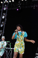 Santigold at the 2012 Bonnaroo Music Festival in Manchester, Tennessee. June 9, 2012. Credit: Jen Maler / MediaPunch Inc. NORTEPHOTO.COM<br />