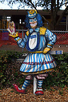 Free standing painting of Giggles in front of the elementary school in Lake Placid
