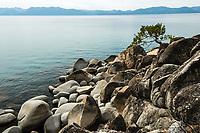 Lake, Pine and Boulders