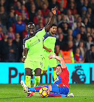 Sadio Mane of Liverpool rides a tackle during the EPL - Premier League match between Crystal Palace and Liverpool at Selhurst Park, London, England on 29 October 2016. Photo by Steve McCarthy.