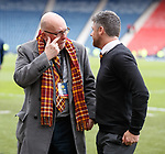Motherwell's James McMahon and Stephen Robinson at full time