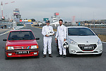 Jesus Castro and Fernando Guillen Cuervo during the presentation of new Peugeot 208 GTI at Jarama Circuit in Madrid, Spain. January 20 2015. (ALTERPHOTOS/Carlos Dafonte)