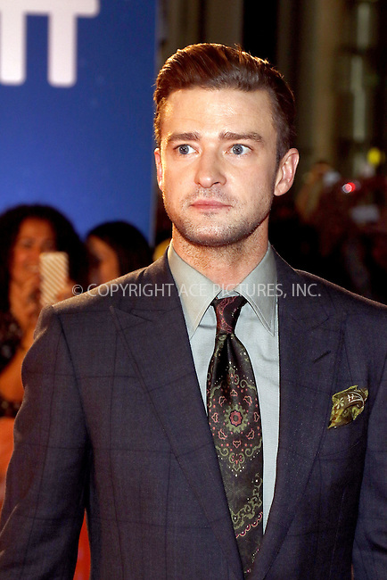 www.acepixs.com<br /> <br /> September 13 2016, Toronto<br /> <br /> Actor Justin Timberlake arriving at the 2016 Toronto International Film Festival Premiere of 'Justin Timberlake and The Tennessee Kids' at the Roy Thomson Hall on September 13, 2016 in Toronto, Canada.<br /> <br /> By Line: Famous/ACE Pictures<br /> <br /> <br /> ACE Pictures Inc<br /> Tel: 6467670430<br /> Email: info@acepixs.com<br /> www.acepixs.com