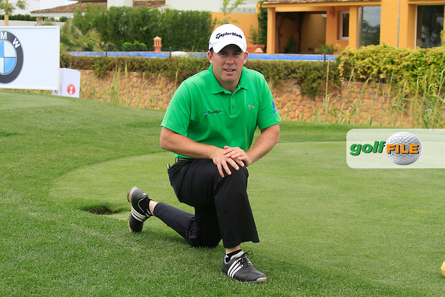 Richie Ramsay (SCO) stretches out during Wednesday's Pro-Am of the Open de Espana at Real Club de Golf de Sevilla, Seville, Spain, 2nd May 2012 (Photo Eoin Clarke/www.golffile.ie)