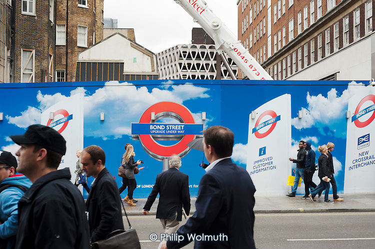Improvements works to Bond Street underground station, Oxford Street.