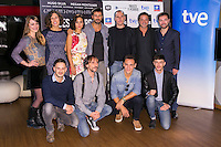 "The crew of the Movie attends the ""DIOSES Y PERROS "" Movie presentation at Kinepolis Cinema in Madrid, Spain. October 6, 2014. (ALTERPHOTOS/Carlos Dafonte) /nortephoto.com"