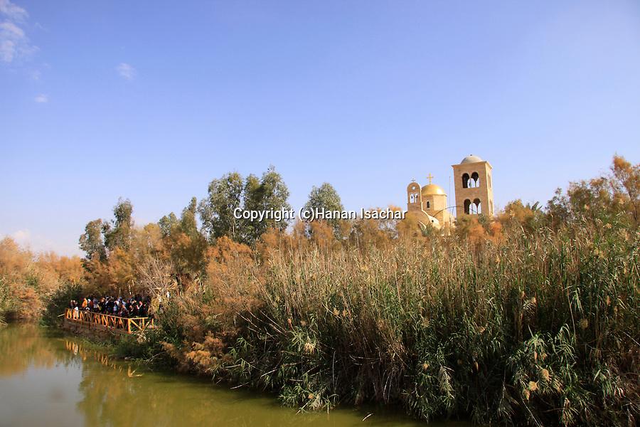 Jordan Valley, the Jordan River at Qasr al Yahud site of Jesus' baptism