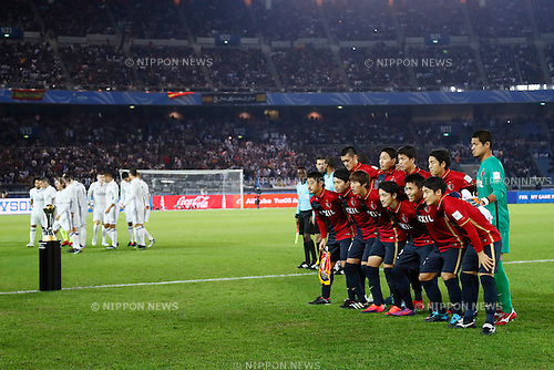 (L-R) Real Madrid team group, Kashima Antlers team group, <br /> DECEMBER 18, 2016 - Football / Soccer : <br /> FIFA Club World Cup Japan 2016 <br /> Final match between Real Madrid - Kashima Antlers <br /> at Yokohama International Stadium in Kanagawa, Japan.<br /> (Photo by Yohei Osada/AFLO SPORT)