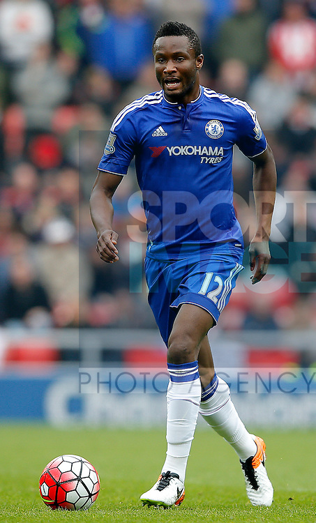 Mikel John Obi of Chelsea during the Barclays Premier League match at the Stadium of Light, Sunderland. Photo credit should read: Simon Bellis/Sportimage