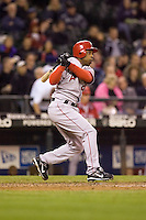 September 24, 2008: Chone Figgins of the Los Angeles Angels of Anaheim at-bat during a game against the Seattle Mariners at Safeco Field in Seattle, Washington.