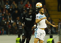 Luis Alberto (Lazio Rom) gegen Danny da Costa (Eintracht Frankfurt) - 04.10.2018: Eintracht Frankfurt vs. Lazio Rom, UEFA Europa League 2. Spieltag, Commerzbank Arena, DISCLAIMER: DFL regulations prohibit any use of photographs as image sequences and/or quasi-video.