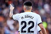 4th January 2020; Mestalla, Valencia, Spain; La Liga Football,Valencia versus Eibar; Maxi Gomez of Valencia CF celebrates after scoring the first goal for his team in minute 28'