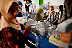 Indonesia's humanitarian non-profit provides trauma healing, medical assistance and food at one of the three shelters that hold a total of 280,000 evacuees from Mt. Merapi explosions, in Yogyakarta, Indonesia, on Tuesday, Nov. 9, 2010.