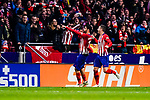 Diego Costa of Atletico de Madrid (L) celebrates his goal during the La Liga 2018-19 match between Atletico Madrid and FC Barcelona at Wanda Metropolitano on November 24 2018 in Madrid, Spain. Photo by Diego Souto / Power Sport Images