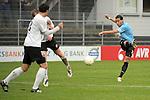 Sandhausen 05.12.2009, 3. Liga SV Sandhausen - FC Ingolstadt 04, Ingolstadts Moise Bambara bei Schuss auf das Tor von Sandhausen, davor Sandhausens Alexander Eberlein und Sandhausens Patrick Kirsch<br /> <br /> Foto &copy; Rhein-Neckar-Picture *** Foto ist honorarpflichtig! *** Auf Anfrage in h&ouml;herer Qualit&auml;t/Aufl&ouml;sung. Ver&ouml;ffentlichung ausschliesslich f&uuml;r journalistisch-publizistische Zwecke. Belegexemplar erbeten.