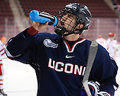 Spencer Naas (UConn - 8) - The Boston University Terriers defeated the visiting University of Connecticut Huskies 4-2 (EN) on Saturday, October 24, 2015, at Agganis Arena in Boston, Massachusetts.