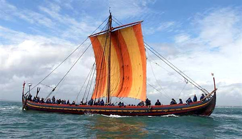 The 100ft Viking ship Sea Stallion