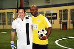 Anthony LaPaglia - Wthout a Trace & Jimmy Jean-Louis - Heroes at the Celebrity soccer game to benefit Hollywood United for Haiti at 1st Setanta Cup Soccer Festival on April 11, 2009 at Chelsea Pers, NYC. (Photo  by Sue Cofln/Max Photos)