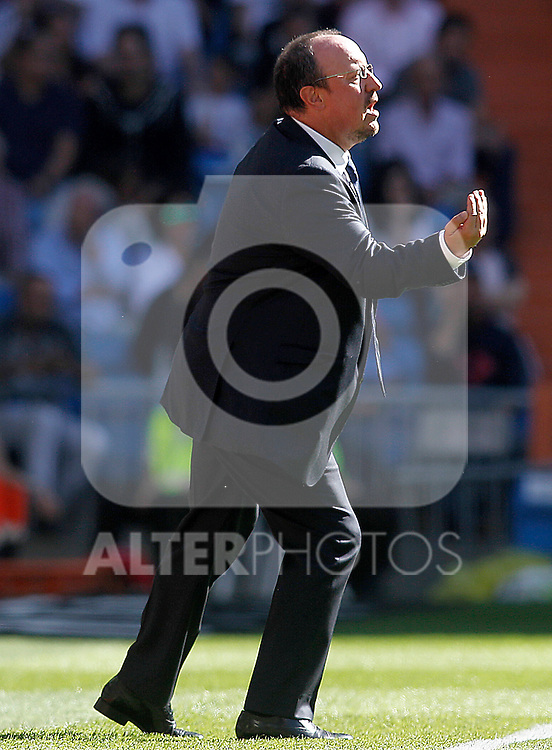 Real Madrid's coach Rafa Benitez during La Liga match. September 19,2015. (ALTERPHOTOS/Acero)
