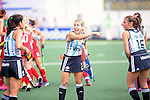 The Hague, Netherlands, June 03: Macarena Rodriguez Perez #5 of Argentina gestures during the field hockey group match (Women - Group B) between Argentina and the United States on June 3, 2014 during the World Cup 2014 at GreenFields Stadium in The Hague, Netherlands. Final score 2:2 (1:1) (Photo by Dirk Markgraf / www.265-images.com) *** Local caption ***