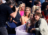 NASHVILLE, TN - JUNE 5: (L-R) Julia Michaels and Keith Urban in the audience at the 2019 CMT Music Awards at Bridgestone Arena on June 5, 2019 in Nashville, Tennessee. (Photo by Frederick Breedon/PictureGroup)