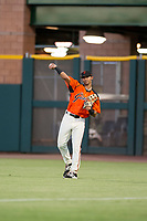 AZL Giants right fielder Jose Layer (76) on defense against the AZL Athletics on August 5, 2017 at Scottsdale Stadium in Scottsdale, Arizona. AZL Athletics defeated the AZL Giants 2-1. (Zachary Lucy/Four Seam Images)
