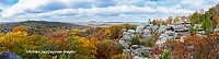 63895-15913 Camel Rock in fall color Garden of the Gods Recreation Area Shawnee National Forest IL