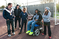 Eric LeGrand. Sky Blue FC defeated the Western New York Flash 1-0 during a National Women's Soccer League (NWSL) match at Yurcak Field in Piscataway, NJ, on April 14, 2013.
