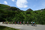Part of the 34 man breakaway in action during Stage 15 of the 2019 Tour de France running 185km from Limoux to Foix Prat d'Albis, France. 20th July 2019.<br /> Picture: ASO/Alex Broadway | Cyclefile<br /> All photos usage must carry mandatory copyright credit (© Cyclefile | ASO/Alex Broadway)