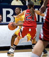 Eliza Pierre of California in action during the game against St. Mary's at Haas Pavilion in Berkeley, California on November 15th, 2012.  California defeated St. Mary's, 89-41.