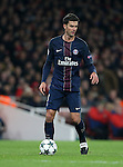 PSG's Thiago Motta in action during the Champions League group A match at the Emirates Stadium, London. Picture date November 23rd, 2016 Pic David Klein/Sportimage