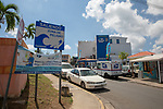 Tsunami Zone Sign With Tsunami Hotel In Bakground