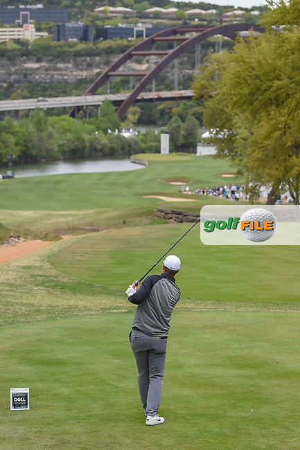 Lucas Bjerregaard (DEN) watches his tee shot on 12 during day 4 of the WGC Dell Match Play, at the Austin Country Club, Austin, Texas, USA. 3/30/2019.<br /> Picture: Golffile | Ken Murray<br /> <br /> <br /> All photo usage must carry mandatory copyright credit (© Golffile | Ken Murray)
