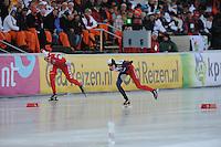 SCHAATSEN: BOEDAPEST: Essent ISU European Championships, 07-01-2012, 1500m Ladies, Natalia Czerwonka POL, Martina Sábliková CZE, ©foto Martin de Jong