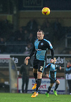 Garry Thompson of Wycombe Wanderers in action during the Sky Bet League 2 match between Wycombe Wanderers and Morecambe at Adams Park, High Wycombe, England on 2 January 2016. Photo by Andy Rowland / PRiME Media Images