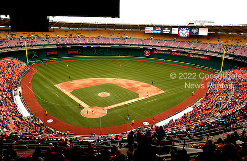 Washington, D.C. - April 3, 2005 -- General view of the baseball diamond at RFK Stadium in Washington, D.C. on April 3, 2005 as the New York Mets  visit the Washington Nationals ..Credit: Ron Sachs / CNP.(RESTRICTION: NO New York or New Jersey Newspapers or newspapers within a 75 mile radius of New York City)