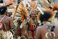 Tribal dancing, Papua New Guinea