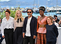 CANNES, FRANCE. May 14, 2019: Alice Rohrwacher, Elle Fanning, Alejandro Gonzalez Inarritu, Maimouna N&rsquo;Diaye &amp; Kelly Reichardt  at the photocall for Jury at the 72nd Festival de Cannes.<br /> Picture: Paul Smith / Featureflash