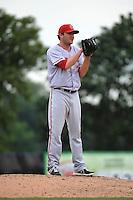 Harrisburg Senators pitcher Tyler Herron (26) during game against the Trenton Thunder at ARM & HAMMER Park on July 31, 2013 in Trenton, NJ.  Harrisburg defeated Trenton 5-3.  (Tomasso DeRosa/Four Seam Images)