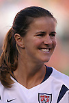 16 October 2004, Brandi Chastain of the U.S. Women's National Team in their 1-0 defeat of Mexico at Arrowhead Stadium, Kansas City, Missouri..