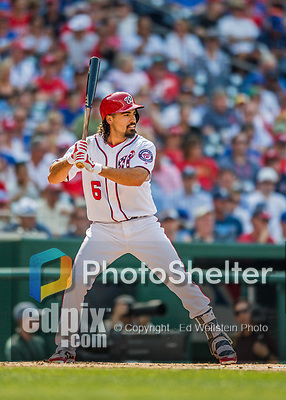 29 June 2017: Washington Nationals third baseman Anthony Rendon in action against the Chicago Cubs at Nationals Park in Washington, DC. The Cubs rallied against the Nationals to win 5-4 and split their 4-game series. Mandatory Credit: Ed Wolfstein Photo *** RAW (NEF) Image File Available ***
