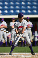 March 6 2009: Andy Pascoe of the Evansville Purple Aces in action against the Pepperdine Waves at Eddy D. Field Stadium in Malibu,CA.  Photo by Larry Goren/Four Seam Images