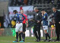 Blackburn Rovers Manager Tony Mowbray makes a double substitution<br /> <br /> Photographer Mick Walker/CameraSport<br /> <br /> The EFL Sky Bet Championship - Derby County v Blackburn Rovers - Sunday 8th March 2020  - Pride Park - Derby<br /> <br /> World Copyright © 2020 CameraSport. All rights reserved. 43 Linden Ave. Countesthorpe. Leicester. England. LE8 5PG - Tel: +44 (0) 116 277 4147 - admin@camerasport.com - www.camerasport.com