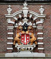 Wapen van Haarlem op de Nieuwe Kerk