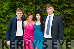 l-r Daniel McMonagle, Shola Koschan, Jessica O'Connor and Kieran McClure. enjoying the Killarney Schools Debs at the Earl of Desmond Hotel on Monday