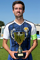 Ryan Hardie of Scotland with the 3rd Placed Winners Trophy during Czech Republic Under-20 vs Scotland Under-20, Toulon Tournament Football at Stade de Lattre-de-Tassigny on 10th June 2017